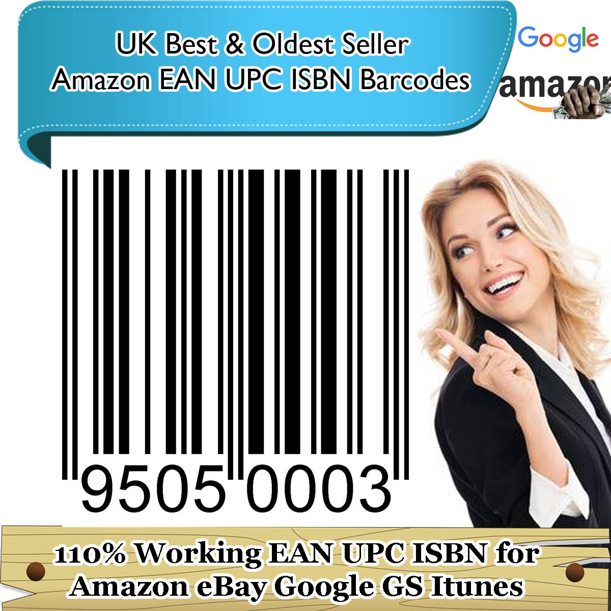 5000 X Upc Codes Numbers Barcodes For Ebay Amazon Google Itunes Listings Uk Eu Us All Marketplaces Codesforamazon Com